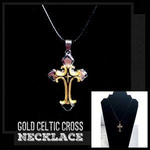 Other - Gold / Silver Blk Celtic Cross Necklace Pendant 🎩